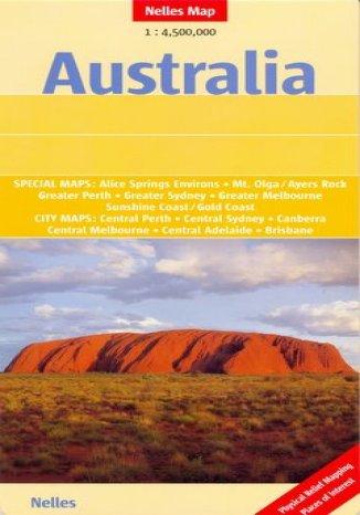 Okładka książki/ebooka Australia. Mapa