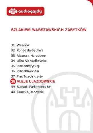 Okładka książki/ebooka Aleje Ujazdowskie. Szlakiem warszawskich zabytków