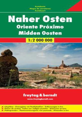 Okładka książki/ebooka Bliski Wschód. Mapa Freytag & Berndt 1:2 000 000