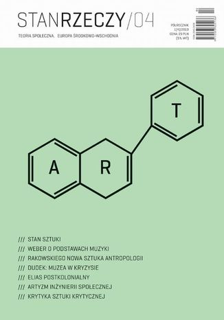 Okładka książki/ebooka Stan Rzeczy 2013/1 (4). Teoria społeczna. Europa Środkowo-Wschodnia