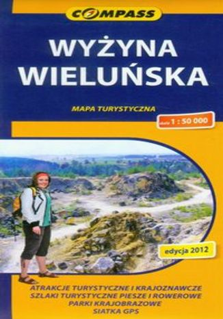 Okładka książki Wyżyna Wieluńska. Mapa turystyczna Compass 1:50 000