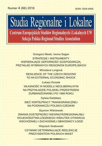 Okładka książki/ebooka Studia Regionalne i Lokalne nr 4(66)/2016