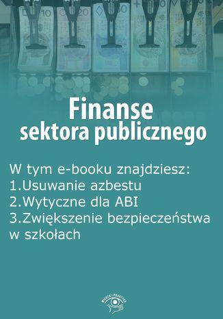 Okładka książki/ebooka Finanse sektora publicznego, wydanie sierpień 2015 r