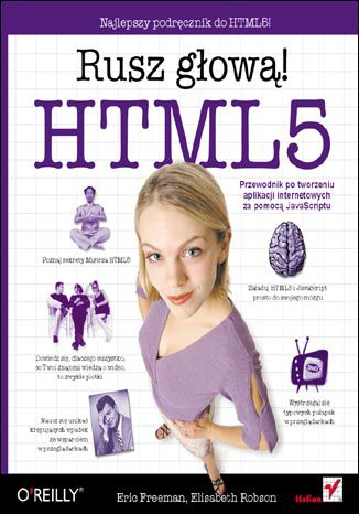 Okładka książki/ebooka HTML5. Rusz głową!