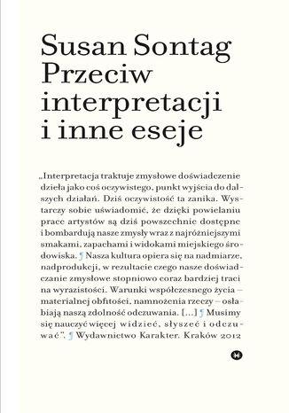 Okładka książki/ebooka Przeciw interpretacji i inne eseje