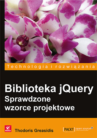 Okładka książki/ebooka Biblioteka jQuery. Sprawdzone wzorce projektowe