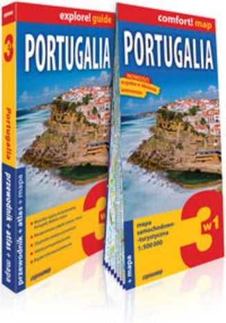 Okładka książki/ebooka Portugalia 3w1 przewodnik + atlas + mapa. explore! guide