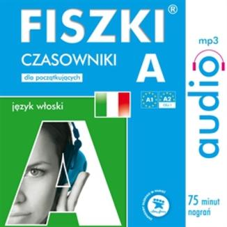 Okładka książki FISZKI audio  j. włoski  Czasowniki dla początkujących
