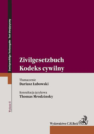 Okładka książki/ebooka Kodeks cywilny. Zivilgesetzbuch. Wydanie 2