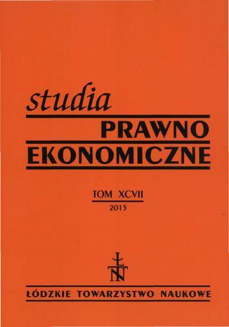 Okładka książki/ebooka Studia Prawno-Ekonomiczne t. 97