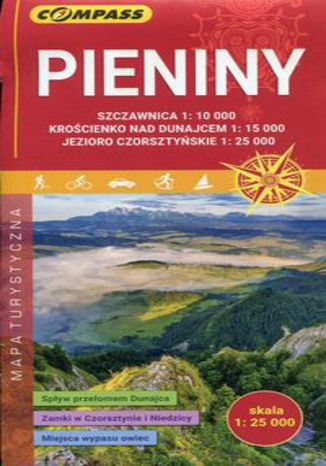 Okładka książki/ebooka Pieniny mapa turystyczna 1:25 000