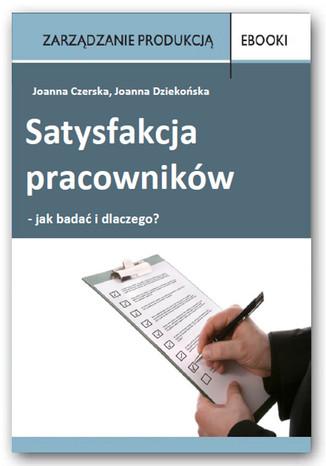 Okładka książki/ebooka Satysfakcja pracowników - jak badać i dlaczego?