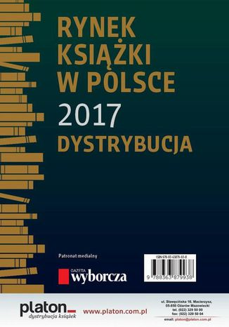 Okładka książki/ebooka Rynek książki w Polsce 2017. Dystrybucja