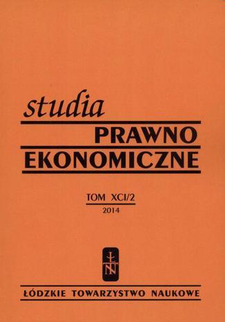 Okładka książki Studia Prawno-Ekonomiczne t. 91/2 2014