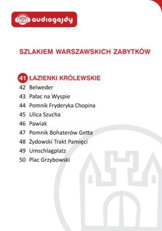 Okładka książki/ebooka Łazienki Królewskie. Szlakiem warszawskich zabytków