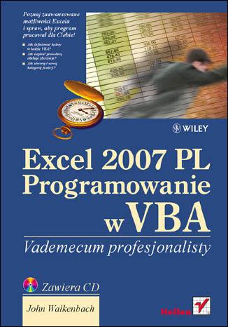 Okładka książki/ebooka Excel 2007 PL. Programowanie w VBA. Vademecum profesjonalisty
