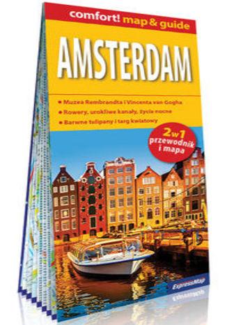Okładka książki/ebooka Amsterdam laminowany map&guide 2w1: przewodnik i mapa