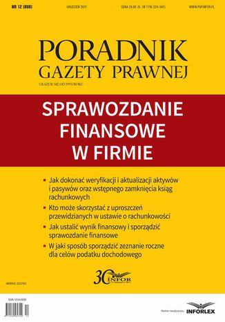 Okładka książki/ebooka Sprawozdanie finansowe w firmie