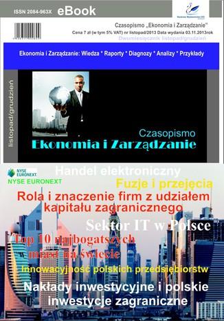 Okładka książki/ebooka Czasopismo Ekonomia i Zarządzanie nr 6 lis/2013