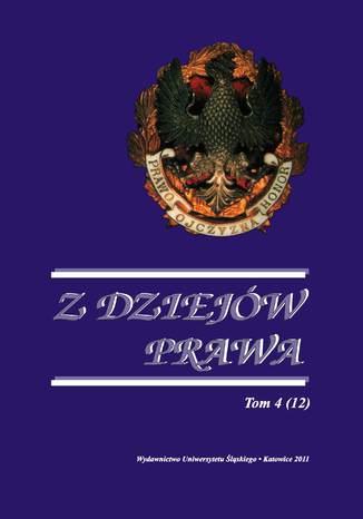 Okładka książki/ebooka Z Dziejów Prawa. T. 4 (12)