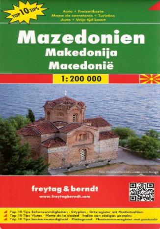 Okładka książki/ebooka Macedonia. Mapa  Freytag & Berndt / 1:200 000