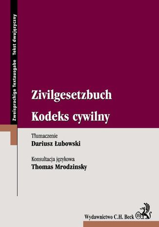 Okładka książki/ebooka Kodeks cywilny Zivilgesetzbuch