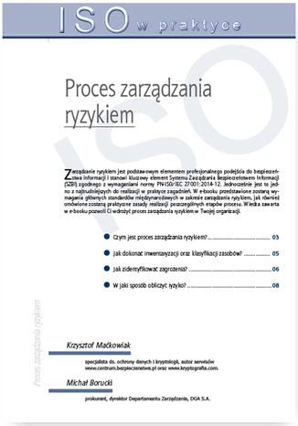 Okładka książki/ebooka Proces zarządzania ryzykiem
