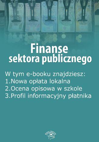 Okładka książki/ebooka Finanse sektora publicznego, wydanie wrzesień 2015 r