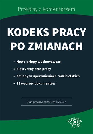 Okładka książki/ebooka Kodeks pracy po zmianach