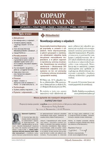 Okładka książki/ebooka Odpady komunalne on-line Aktualności - Prawo - Finanse