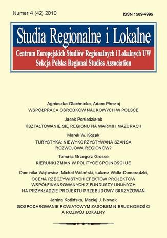 Okładka książki/ebooka Studia Regionalne i Lokalne nr 4(42)/2010