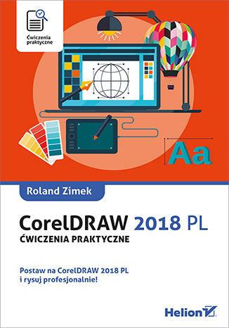 Okładka książki CorelDRAW 2018 PL. Ćwiczenia praktyczne