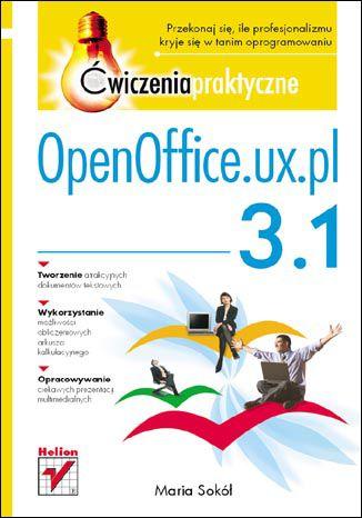 Okładka książki OpenOffice.ux.pl 3.1. Ćwiczenia praktyczne