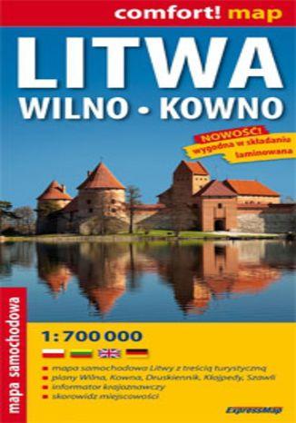 Okładka książki/ebooka Litwa oraz Wilno i Kowno. Mapa ExpressMap / 1:700 000