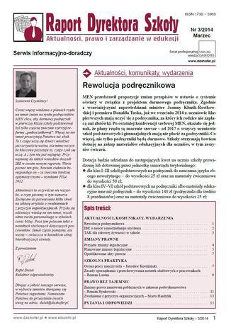 Okładka książki/ebooka Raport Dyrektora Szkoły on-line