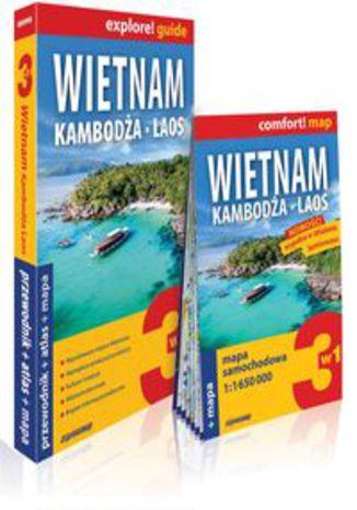 Okładka książki/ebooka Wietnam, Kambodża, Laos 3w1: przewodnik + atlas + mapa. explore! guide