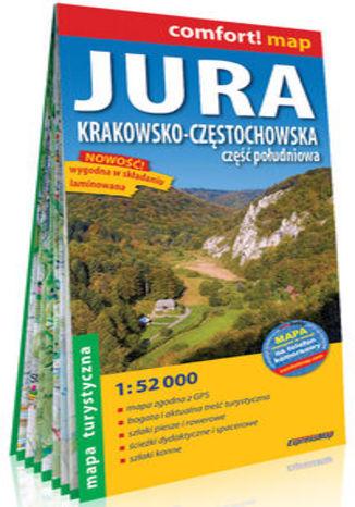 Okładka książki/ebooka Jura Krakowsko-Częstochowska Część południowa laminowana mapa turystyczna 1:52 000