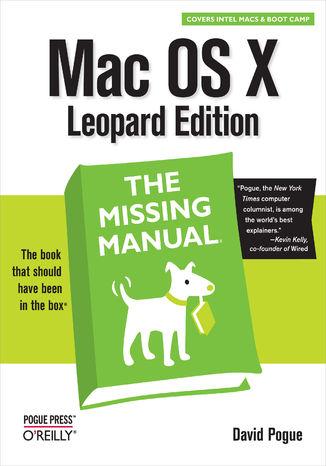 Okładka książki/ebooka Mac OS X Leopard: The Missing Manual