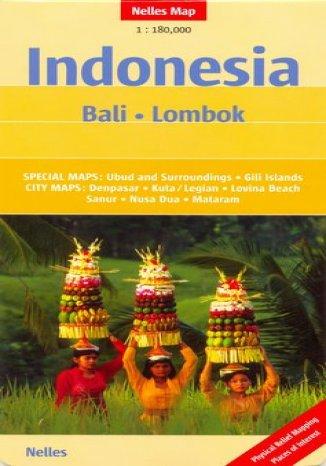 Okładka książki/ebooka Indonezja. Bali, Lombok. Mapa