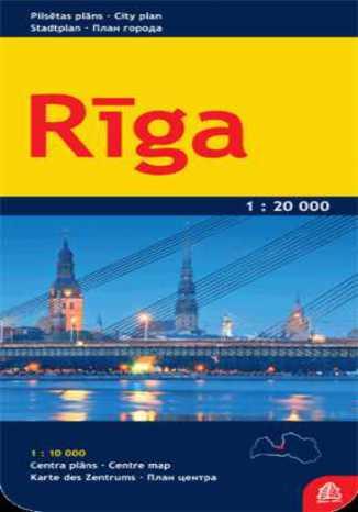 Okładka książki/ebooka Ryga mapa 1:20 000 Jana Seta