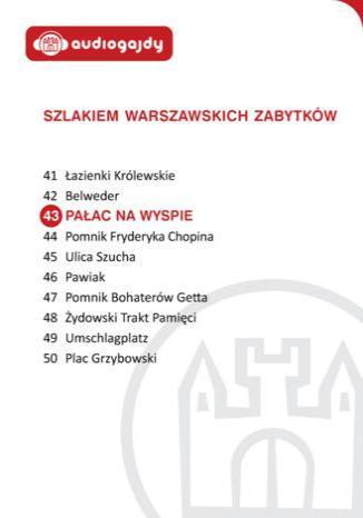 Okładka książki/ebooka Pałac na wyspie w Łazienkach. Szlakiem warszawskich zabytków