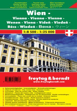 Okładka książki/ebooka Wiedeń mapa turystyczna 1:8 500 - 1:25 000 Freytag & Berndt