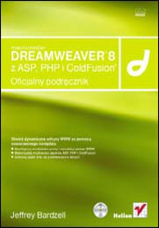 Okładka książki/ebooka Macromedia Dreamweaver 8 z ASP, PHP i ColdFusion. Oficjalny podręcznik