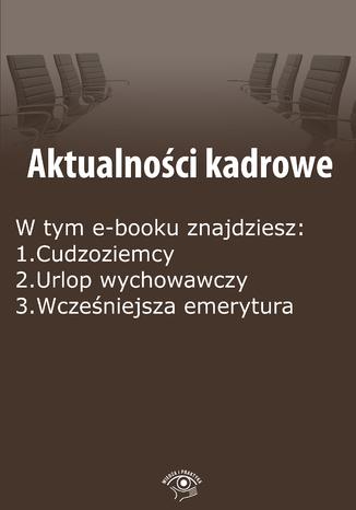 Okładka książki/ebooka Aktualności kadrowe, wydanie czerwiec 2015 r. część I
