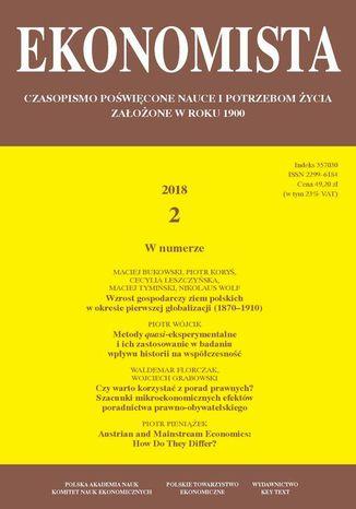 Okładka książki/ebooka Ekonomista 2018 nr 2