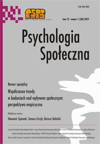 Okładka książki/ebooka Psychologia Społeczna nr 1(40)/2017