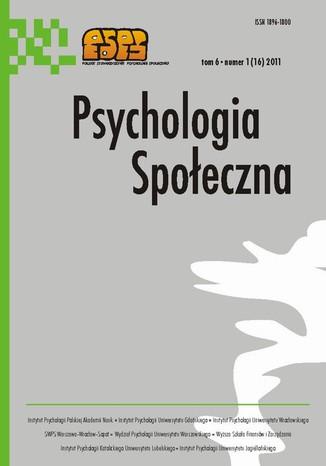 Okładka książki/ebooka Psychologia Społeczna nr 1(16)/2011