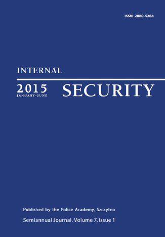Okładka książki/ebooka Internal Security (January-June) Vol. 7/1/2015