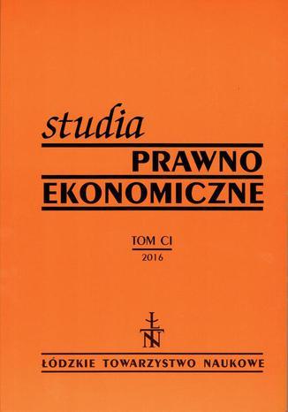 Okładka książki/ebooka Studia Prawno-Ekonomiczne t. 101