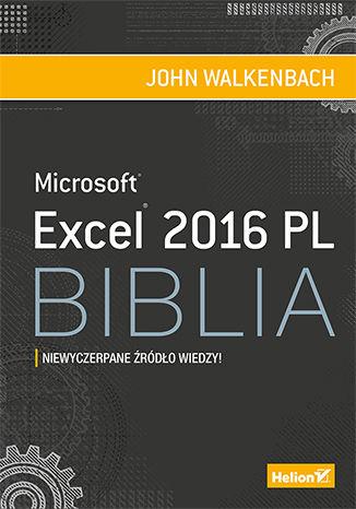 Okładka książki/ebooka Excel 2016 PL. Biblia